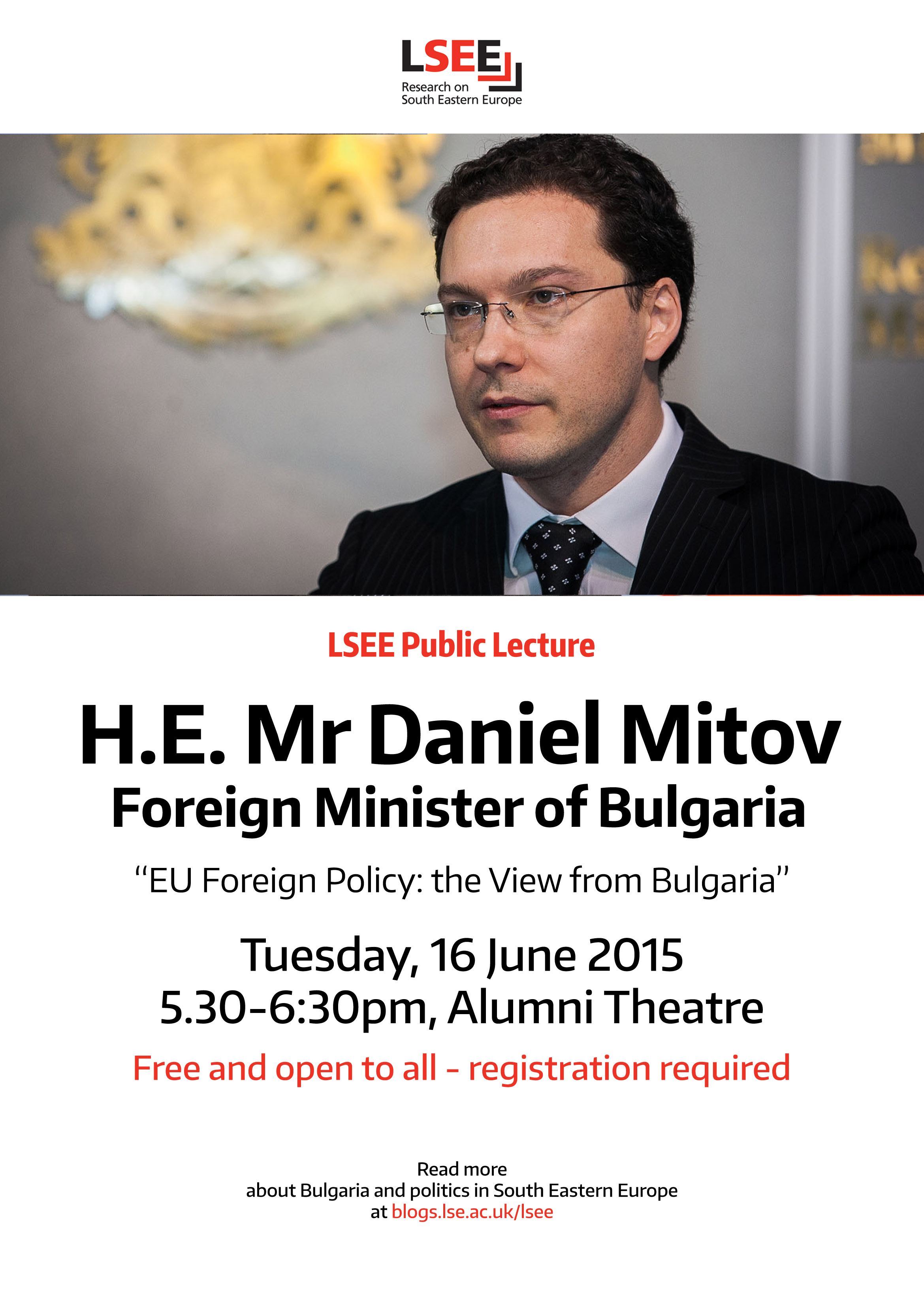 Poster - FM Daniel Mitov lecture at the LSE