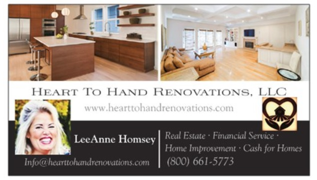Heart To Hand Real Estate Investing Business Card