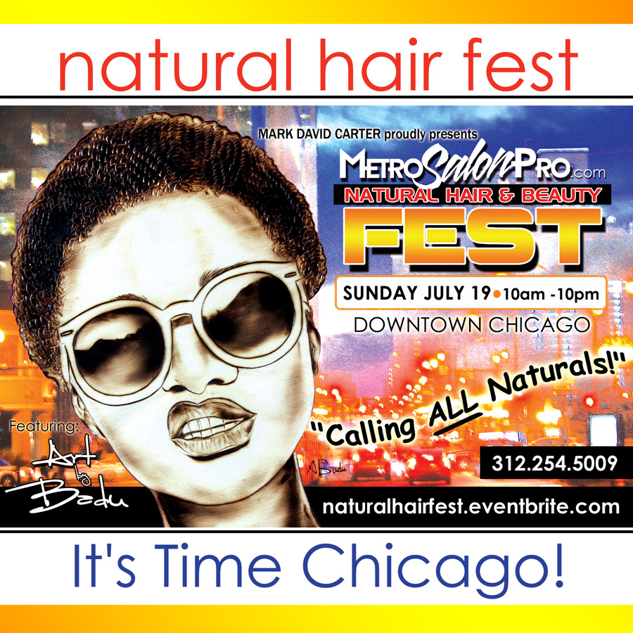 Natural Hair Fest Chicago 2015 Flyer