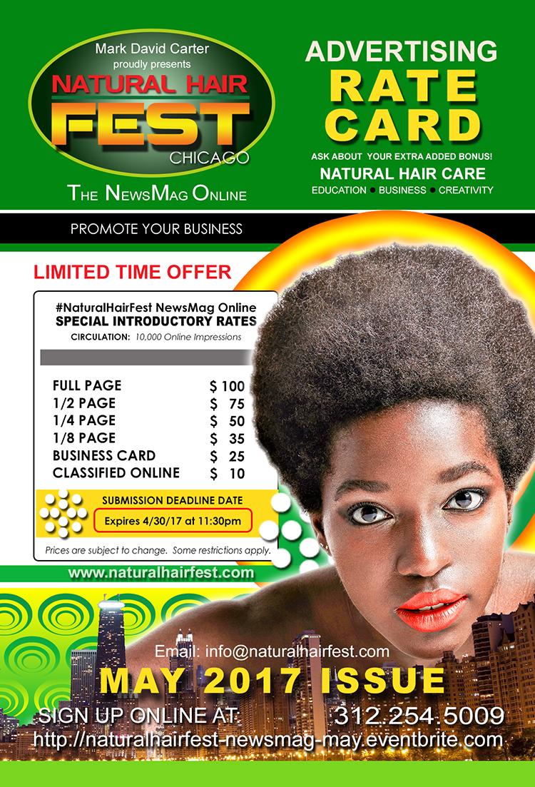 NATURAL HAIR FEST NEWS MAG RATE CARD