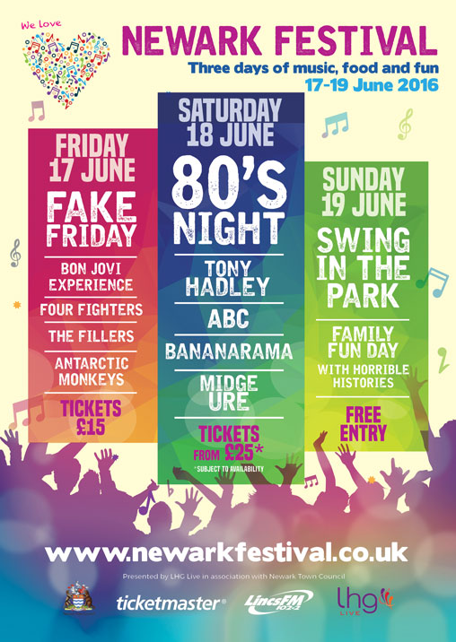 multiple event flyer newark festival view event liz hobbs group live sport love