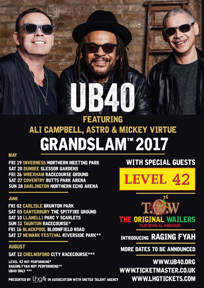 UB40 Tour Poster