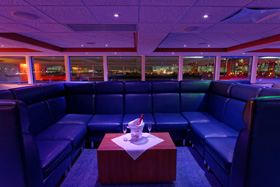 Hornblower Infinity - VIP banquette, privacy for groups