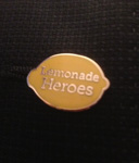 the sporty new Lemonade Heroes lapel pin