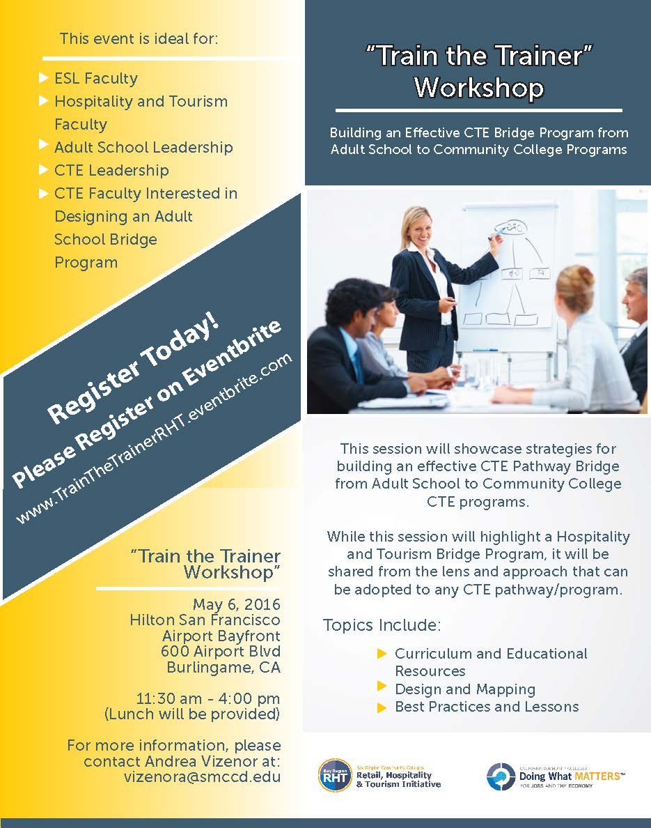 train the trainer building an effective cte bridge program while this session will highlight a hospitality and tourism bridge program