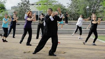 Tai Chi in Hermann Park