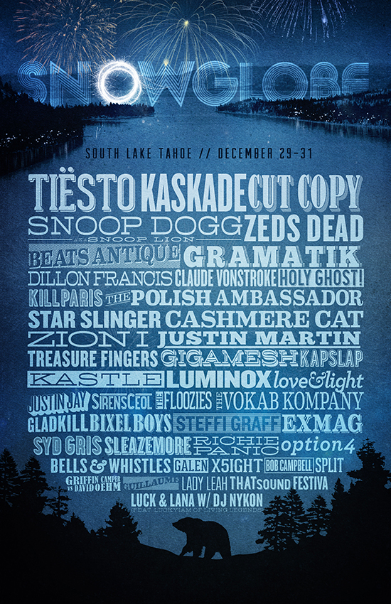 SnowGlobe 2013 Line-Up