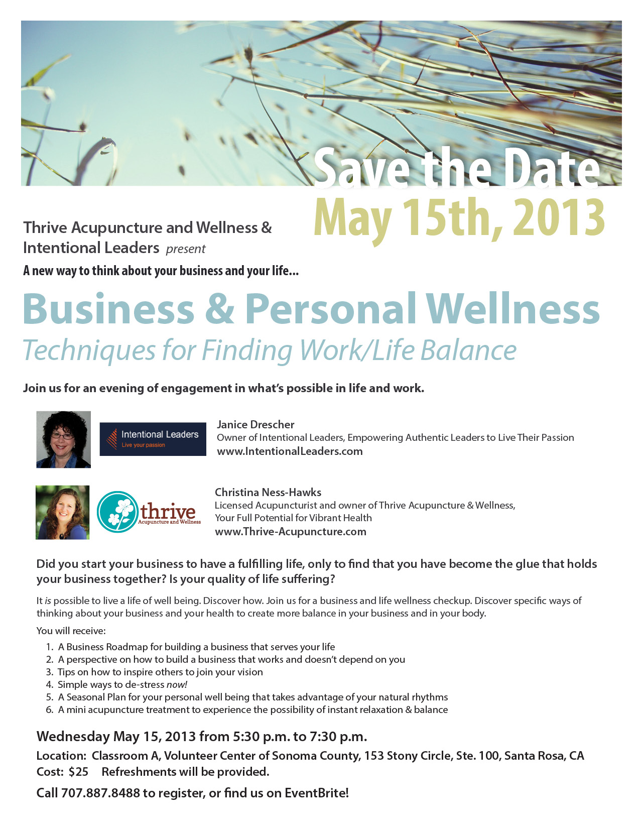 Business & Personal Wellness, Santa Rosa, CA
