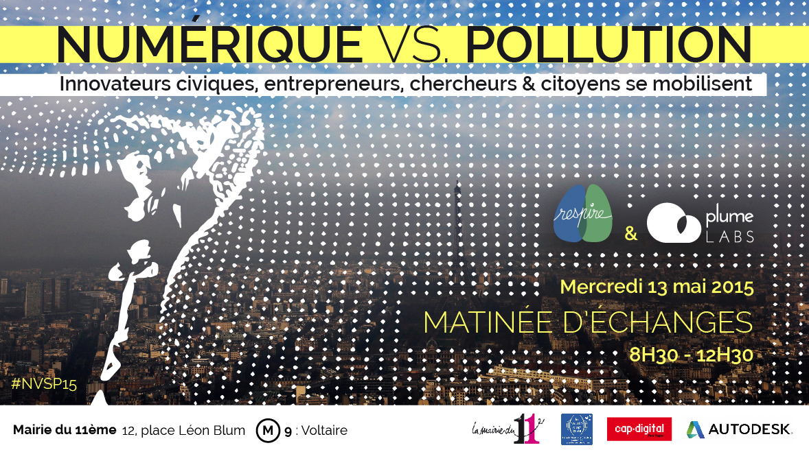 Flyer Numérique vs. Pollution #NVSP15 by Plume Labs & Association Respire