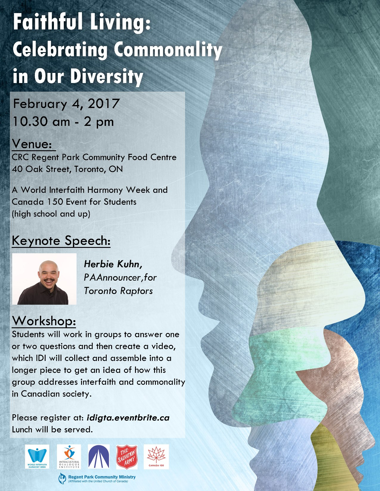 Herbie Kuhn, Celebrating Diversity in Our Commonality, Intercultural Dialogue Institute, Canada 150, World Interfaith Harmony Week