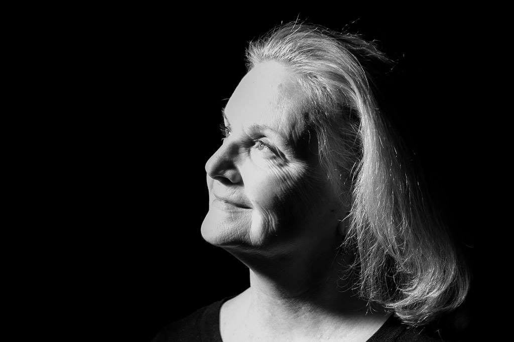 Black and white head shot of Pamela Weeks