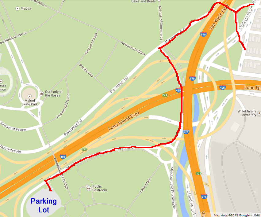 Route to Parking Lot