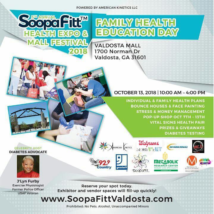 2018 SoopaFitt Health Expo at the Valdosta Mall