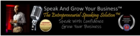 Speak And Grow Your Business Banner