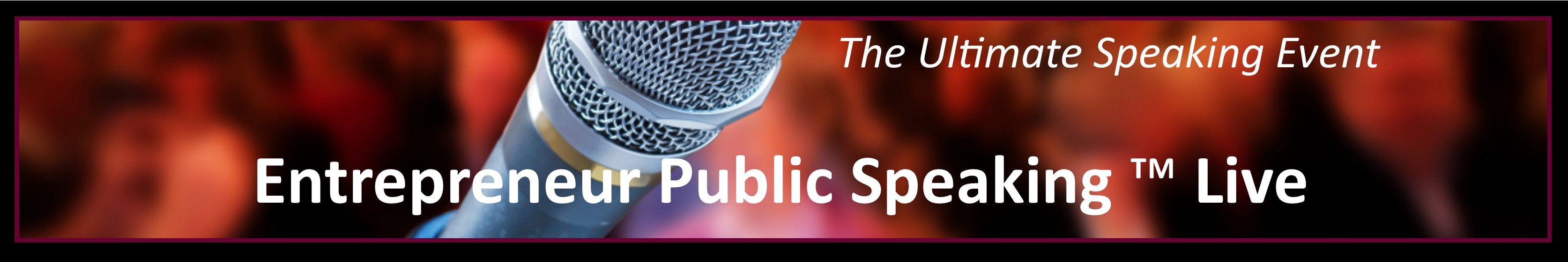 Entrepreneur Public Speaking Live Event