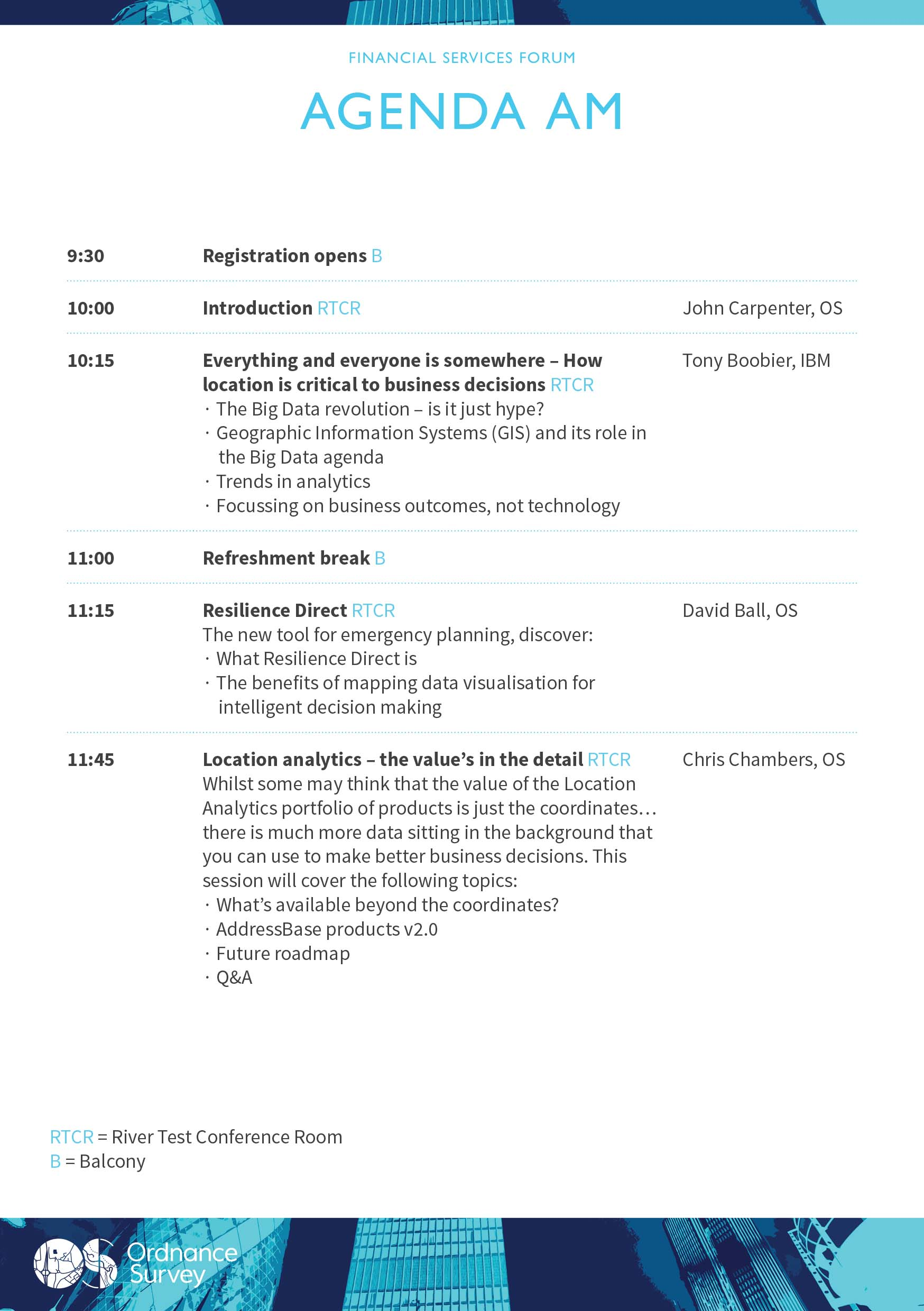 Financial Services Forum Morning Agenda