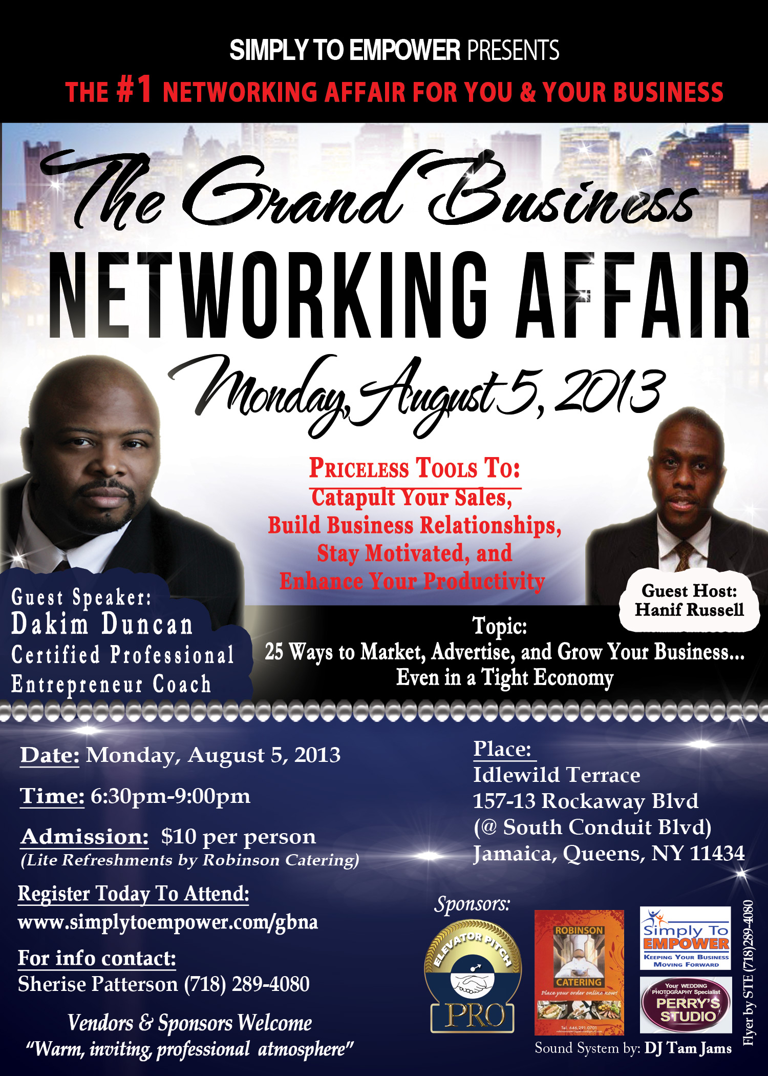 GRAND Business Networking Affair; August 5, 2013