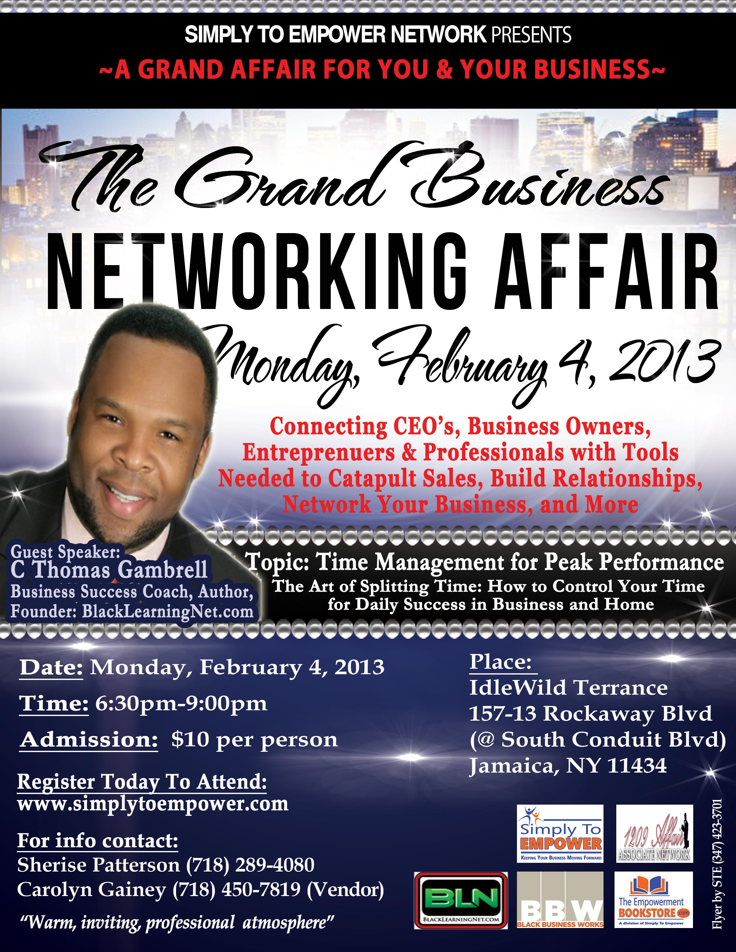 February 2013 Grand Business Networking Affair