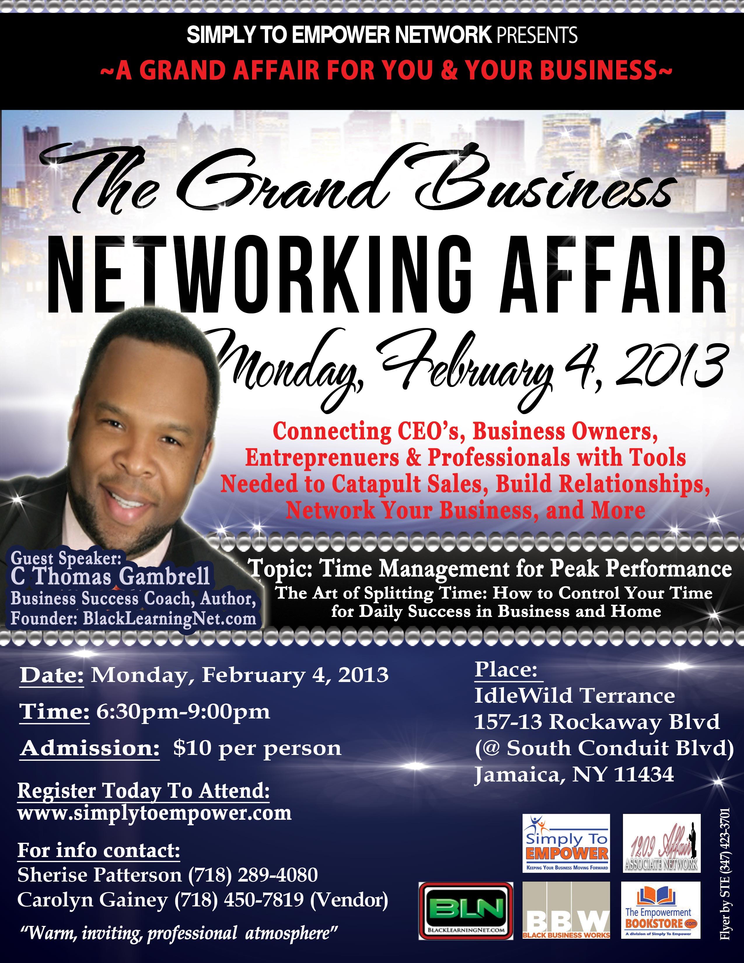 February 2013 Grand Business Networking Affair