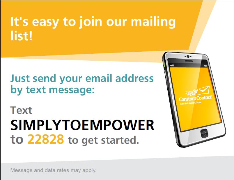 Text to Join SignUp Box