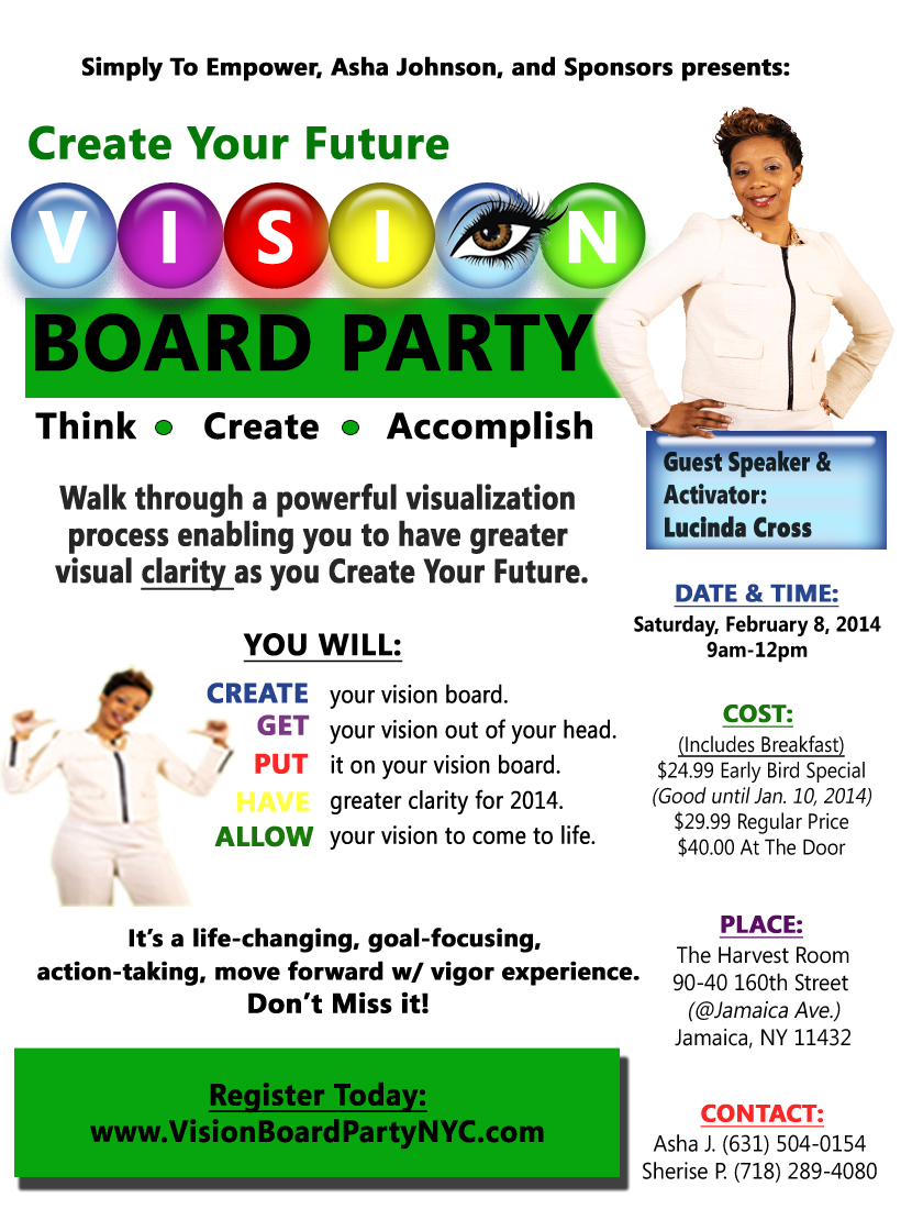 Vision Board Party Front