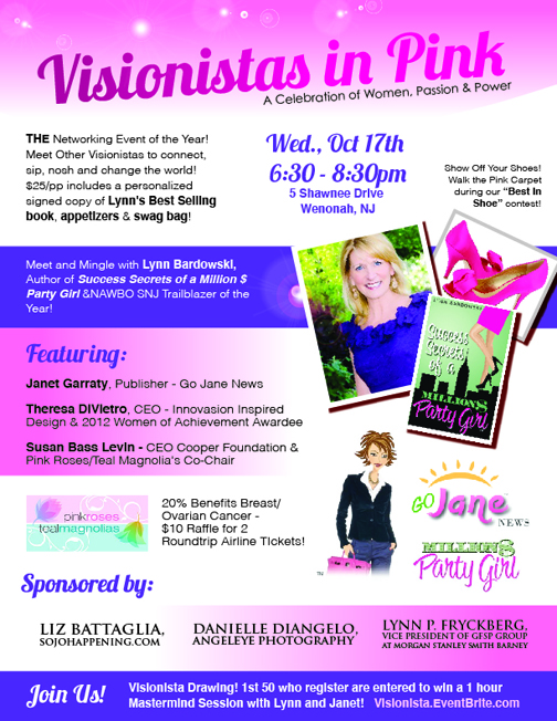 Visionista's In Pink! THE networking event of the year!
