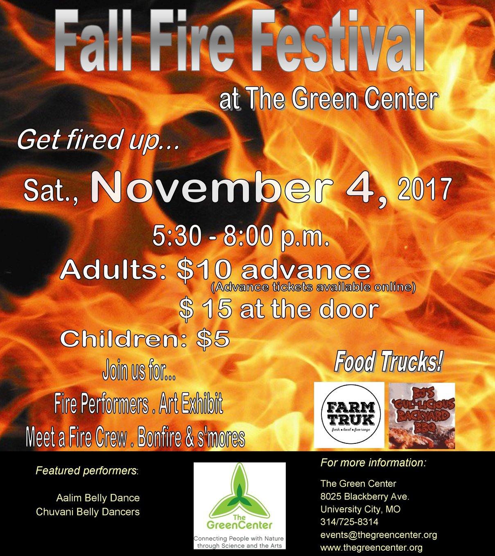 Fall Fire Festival Flyer