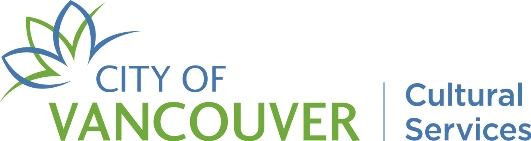 City of Vancouver Cultural Services Emblem