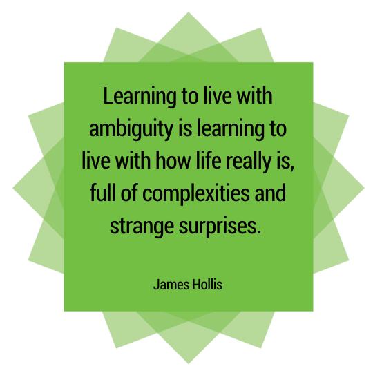 Ambiguity Quote James Hollis