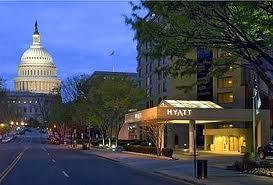 Hyatt Regency on Capitol Hill (evening view of U.S. Capitol)