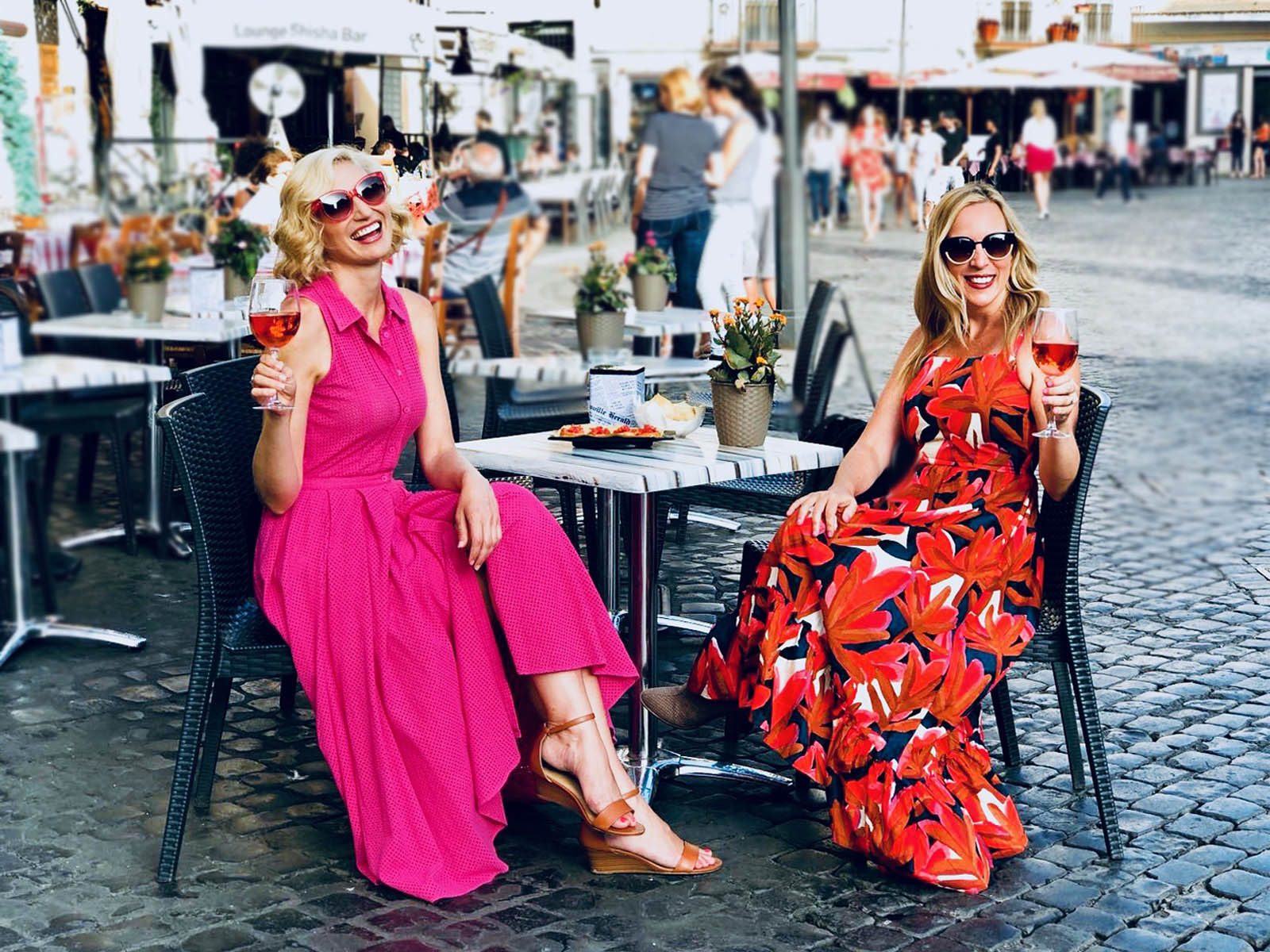 Alli and Leslie in Italy