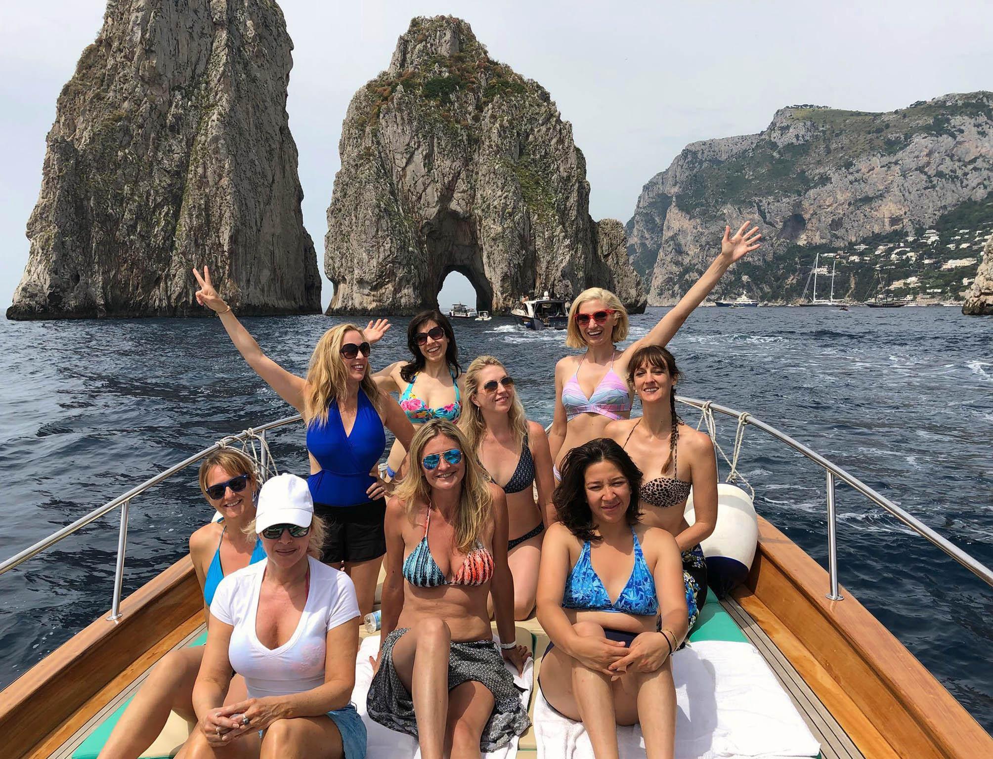 On a Boat Amalfi Coast