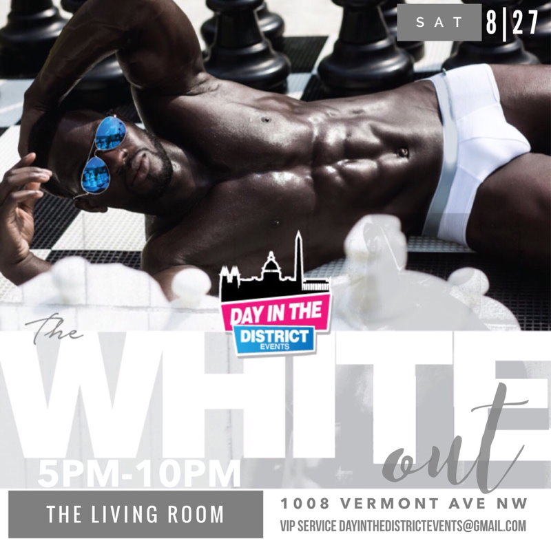 All white day party event with day in the district tickets for Living room 1008 vermont ave nw