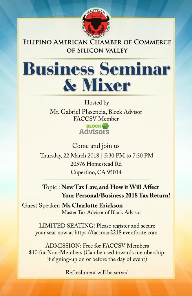 Business Seminar & Mixer Tickets, Thu, Mar 22, 2018 at 5 ...