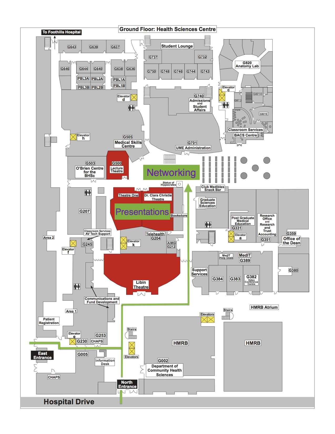 Fothills campus map