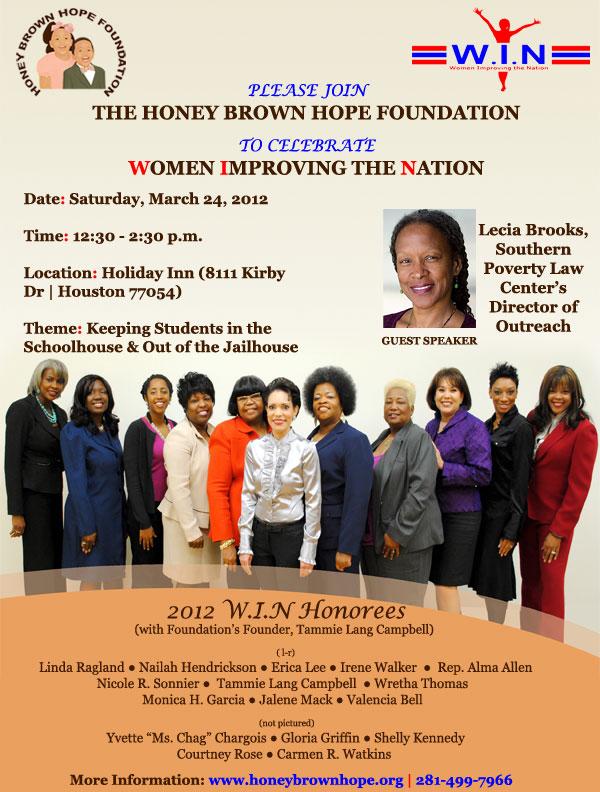 Honey Brown Hope Foundation Women Improving the Nation