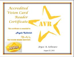 Become an Accredited Vision Card Reader in two 90 minute classes...
