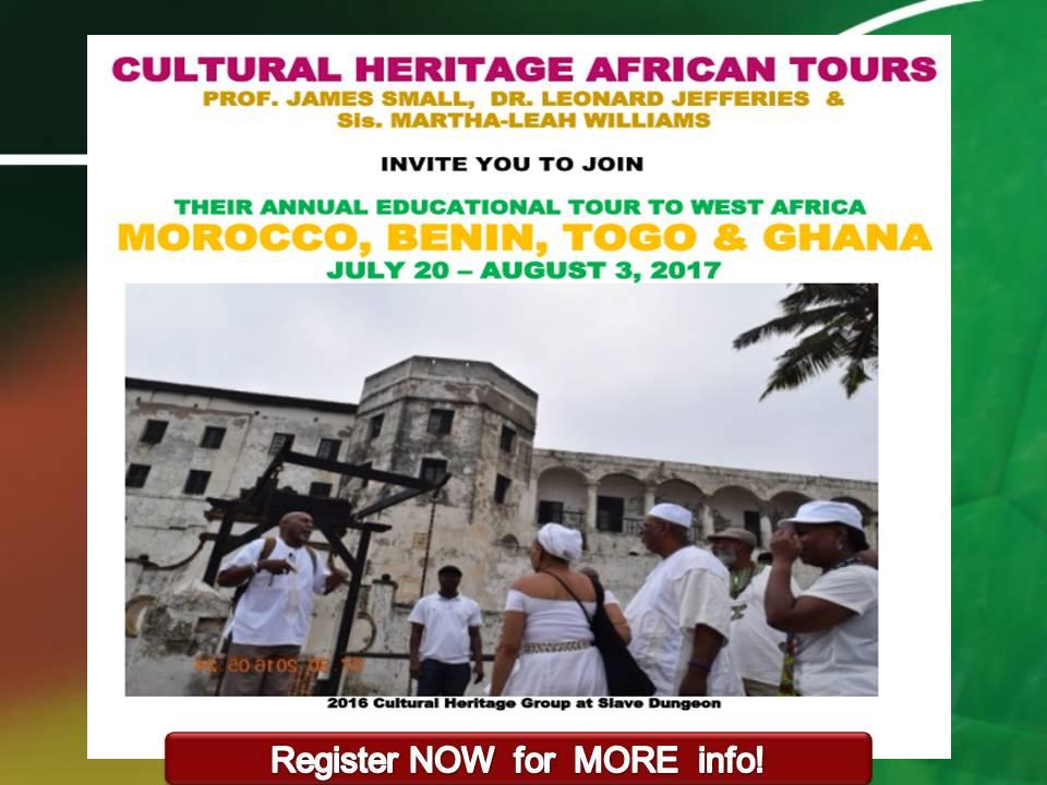 TOURS- MOROCCO, BENIN, TOGO, GHANA- 2017 w. Dr J & Small