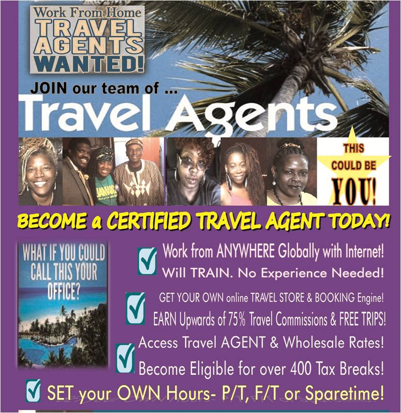 Travel Agents Wanted- WILL TRAIN-