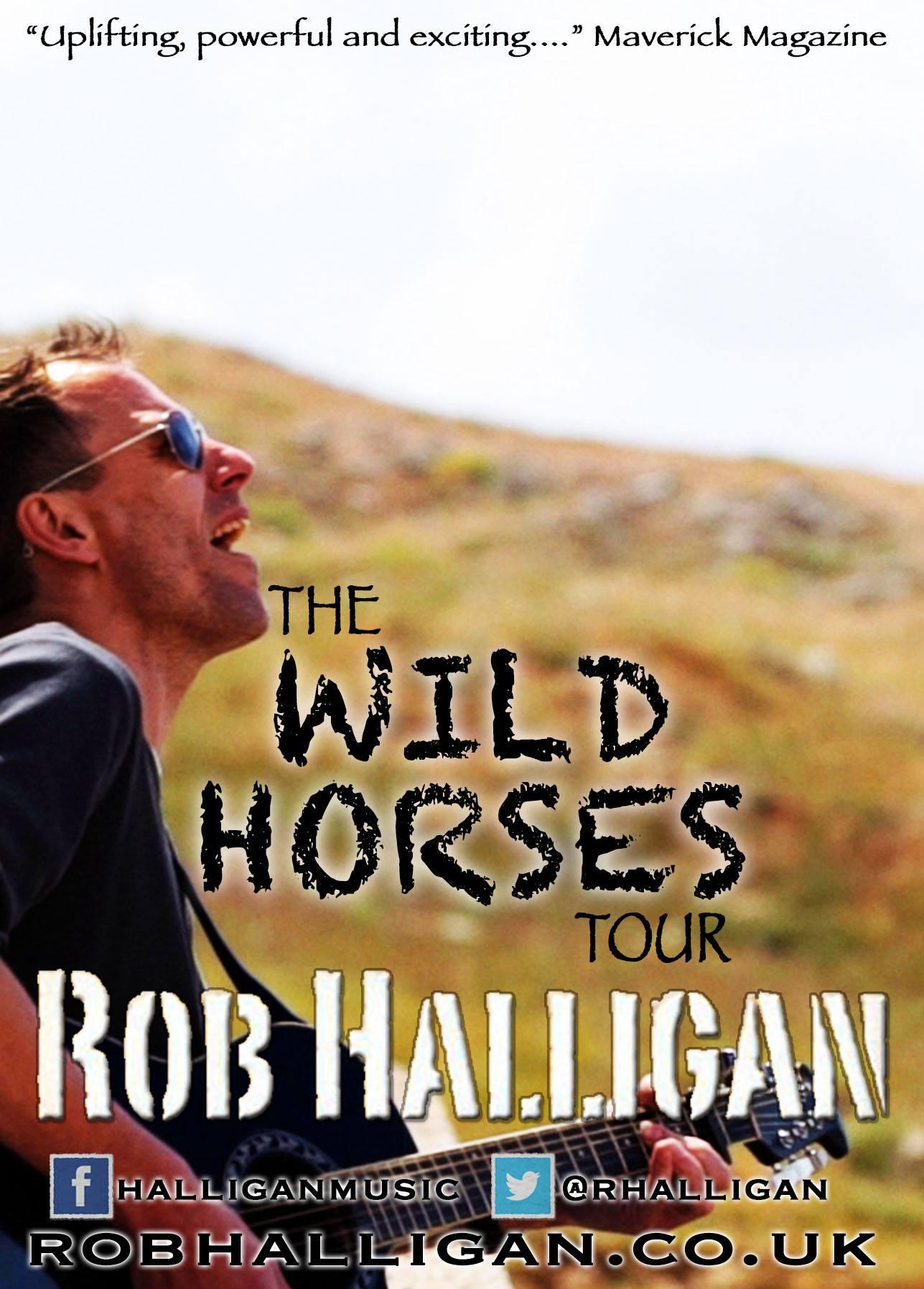 Rob Halligan Wild Horses tour poster