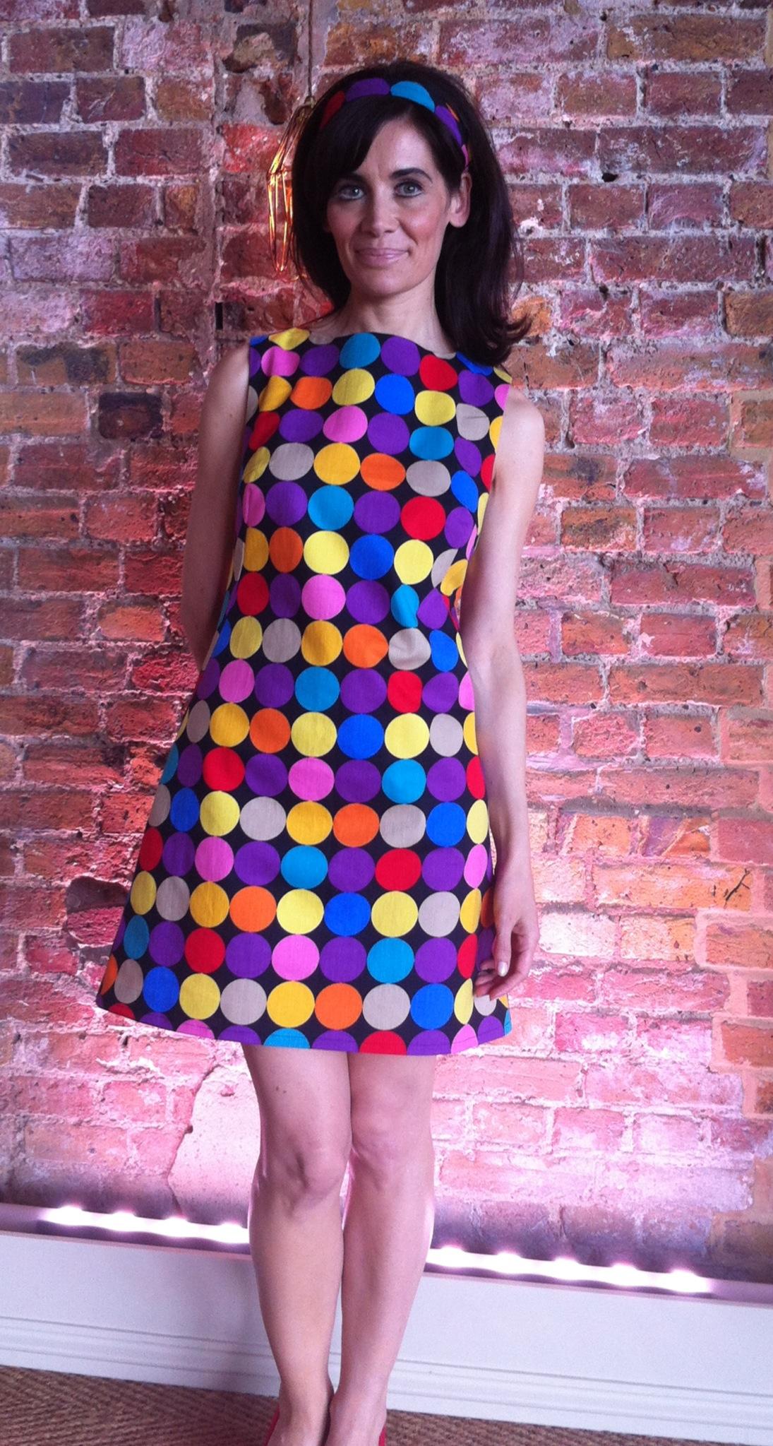 Sleeveless 60's inspired shift dress