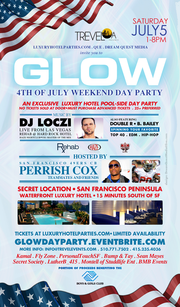 Glow Day Party Flyer