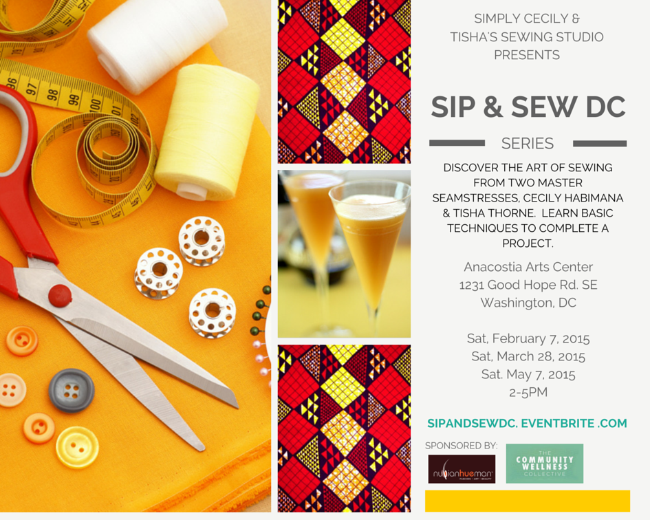 Sip and Sew DC Flyer