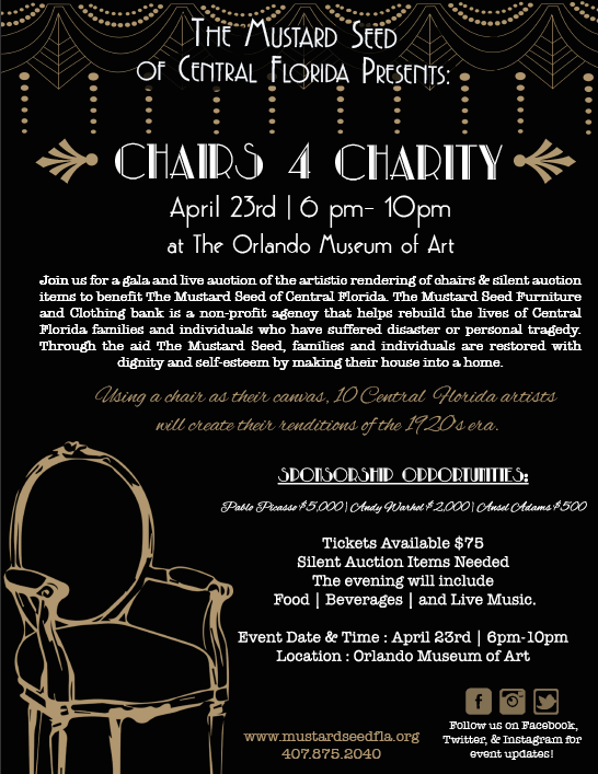 Chairs 4 Charity Flyer