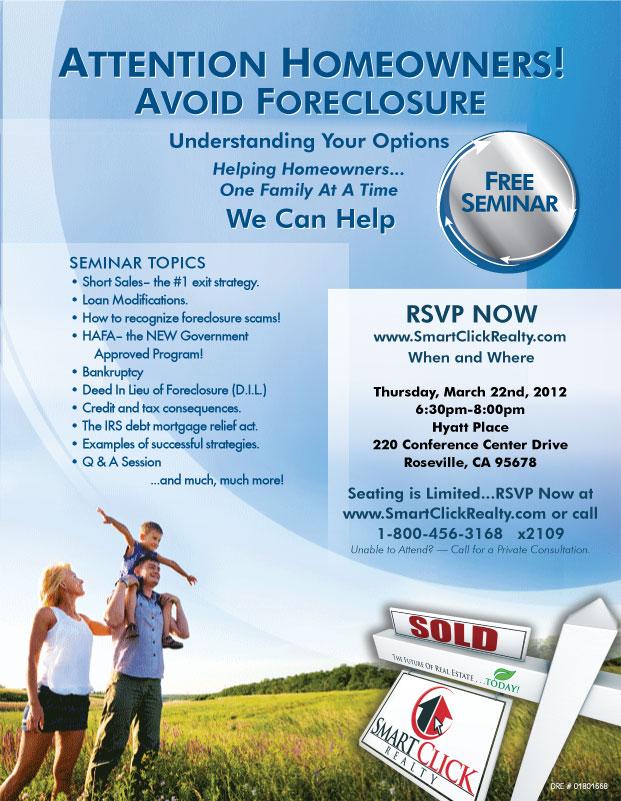 Avoid Foreclosure Seminar Roseville