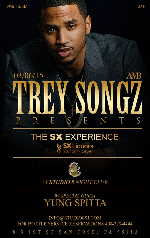 Trey Songz Live at Studio 8 March 6