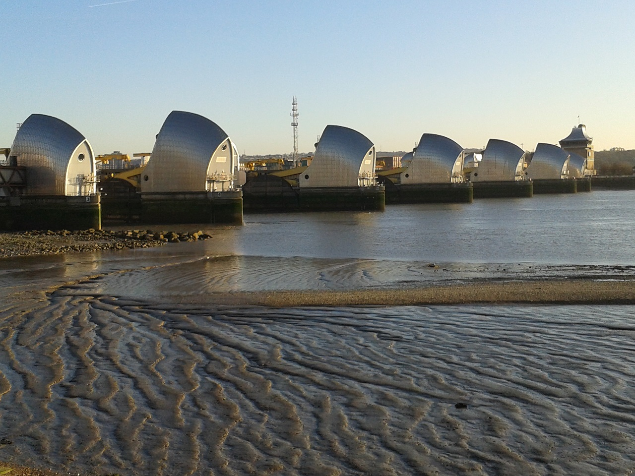 View of Thames Barrier from the Park