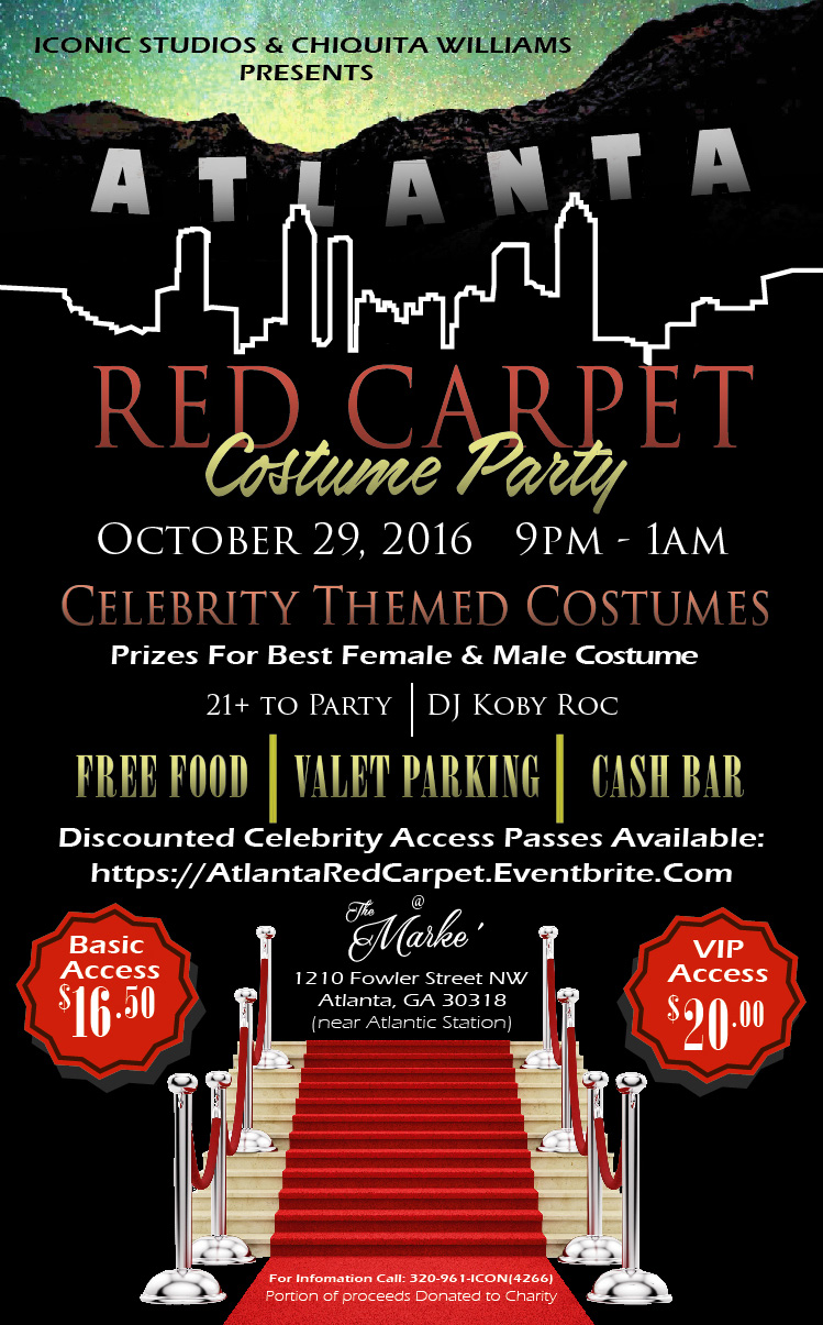 Atlanta Red Carpet Costume Party Tickets, Sat, Oct 29, 2016 at 9 ...