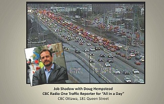 Doug Hempstead with traffic camera footage in background