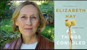 Photo of author Elizabeth Hay with book